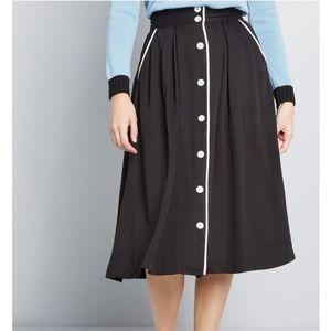 Modcloth button up midi skirt